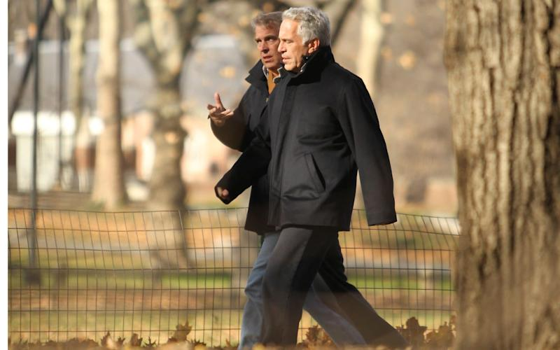 Prince Andrew and Jeffrey Epstein pictured walking together in Central Park during the 2010 visit  -  Jae Donnelly