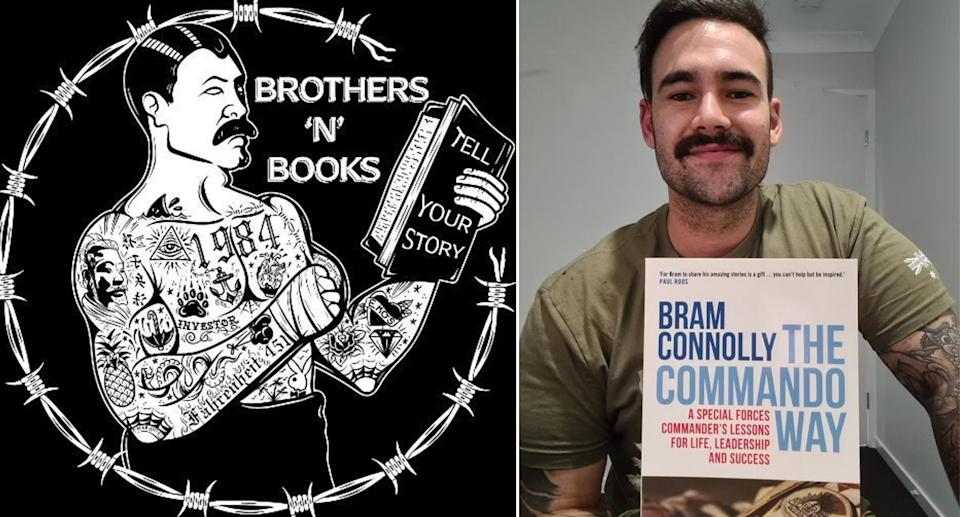 Australian Army Officer, Captain Dylan Conway founded Brothers n' Books with an Instagram page in November 2020. Photo: Supplied