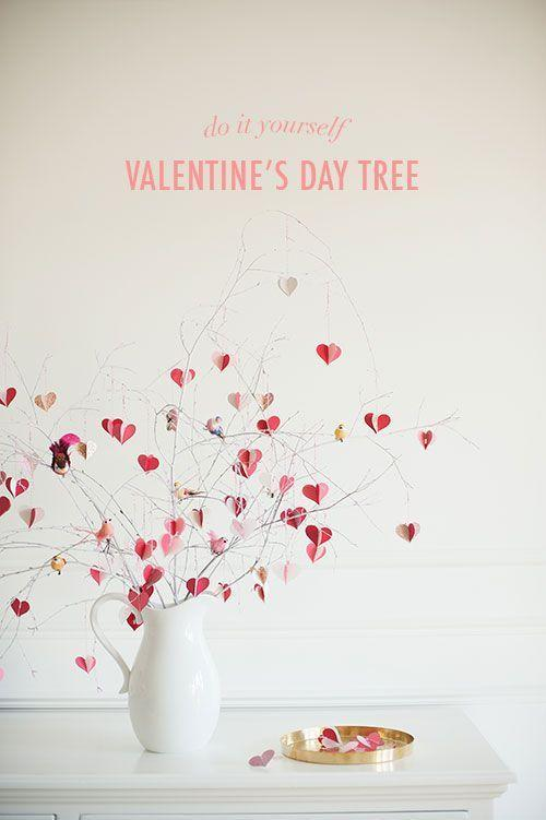 """<p>Grab a few twigs out of your yard and spray paint them white, then cut small hearts out of colorful construction paper and hang from the branches with twine. </p><p><strong>Get the tutorial at <a href=""""http://thehousethatlarsbuilt.com/2015/01/diy-valentines-day-branch-tree.html/?utm_source=feedburner&utm_medium=feed&utm_campaign=Feed:+blogspot/ixXvk+(The+House+That+Lars+Built.)"""" rel=""""nofollow noopener"""" target=""""_blank"""" data-ylk=""""slk:The House the Lars Built"""" class=""""link rapid-noclick-resp"""">The House the Lars Built</a>.</strong></p><p><strong><a class=""""link rapid-noclick-resp"""" href=""""https://www.amazon.com/s/ref=nb_sb_noss?url=search-alias%3Dgarden&field-keywords=white+bird+clips&tag=syn-yahoo-20&ascsubtag=%5Bartid%7C10050.g.2971%5Bsrc%7Cyahoo-us"""" rel=""""nofollow noopener"""" target=""""_blank"""" data-ylk=""""slk:SHOP BIRD CLIPS"""">SHOP BIRD CLIPS</a><br></strong></p>"""
