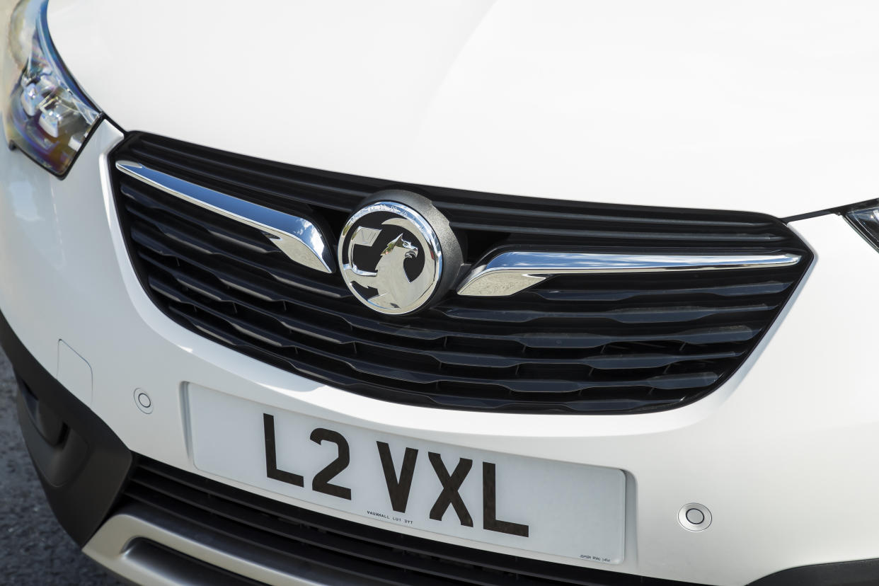 The large grille dominates the front of the car