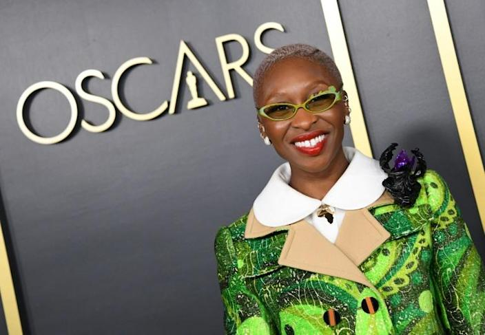 """British actress Cynthia Erivo is the only Oscar-nominated actress of color, for anti-slavery biopic """"Harriet"""" (AFP Photo/Valerie MACON)"""