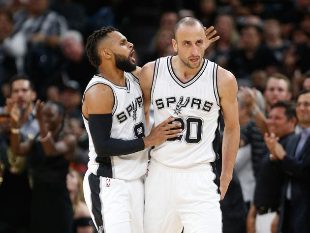 Patty Mills and Manu Ginobili. (Getty Images)