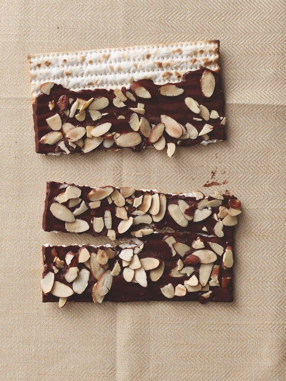 """<p>Brush matzo with chocolate, then pile on the toppings!</p><p><em><a href=""""https://www.womansday.com/food-recipes/food-drinks/recipes/a11947/chocolate-covered-matzo-recipe-122899/"""" rel=""""nofollow noopener"""" target=""""_blank"""" data-ylk=""""slk:Get the recipe from Woman's Day »"""" class=""""link rapid-noclick-resp"""">Get the recipe from Woman's Day »</a></em></p>"""