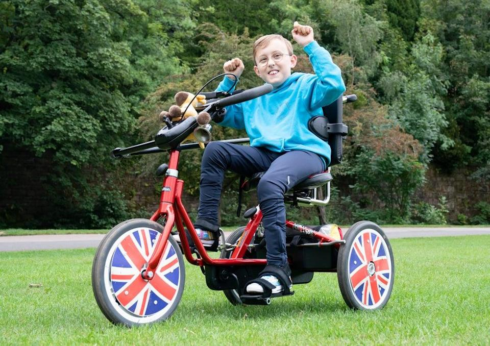 Inspirational young fundraiser Tobias Weller near his home in Sheffield (Danny Lawson/PA) (PA Wire)