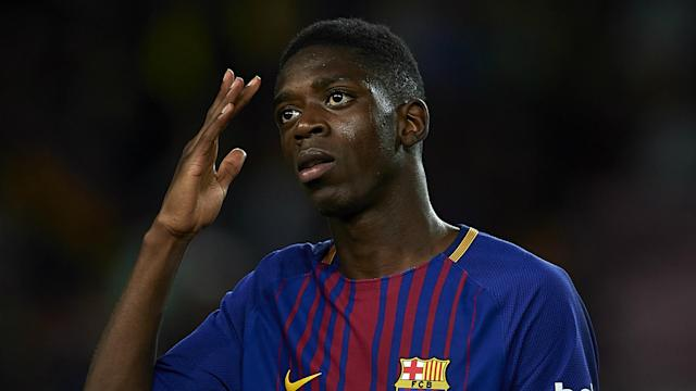Ousmane Dembele will be supervised by Barcelona medical staff after spraining his ankle.