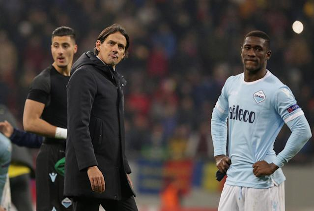 Soccer Football - Europa League Round of 32 First Leg - Steaua Bucharest vs Lazio - National Arena, Bucharest, Romania - February 15, 2018 Lazio coach Simone Inzaghi looks dejected after the match Inquam Photos/Octav Ganea via REUTERS ROMANIA OUT. NO COMMERCIAL OR EDITORIAL SALES IN ROMANIA THIS IMAGE HAS BEEN SUPPLIED BY A THIRD PARTY. IT IS DISTRIBUTED, EXACTLY AS RECEIVED BY REUTERS, AS A SERVICE TO CLIENTS