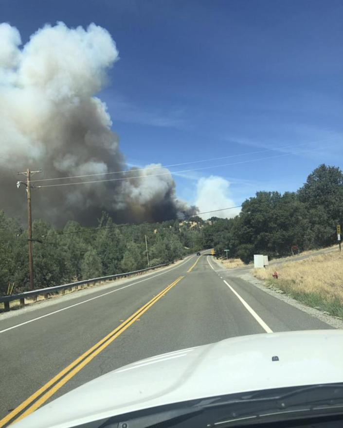 The Mountain Fire is threatening thousands of homes and forcing evacuations.