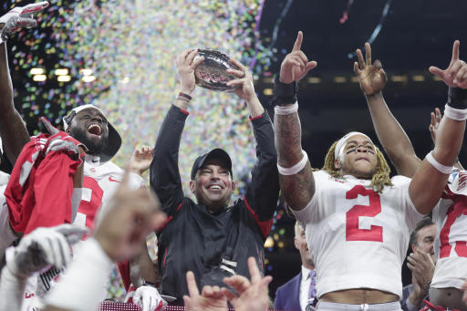 No. 2 Ohio State faces No. 3 Clemson in the Fiesta Bowl