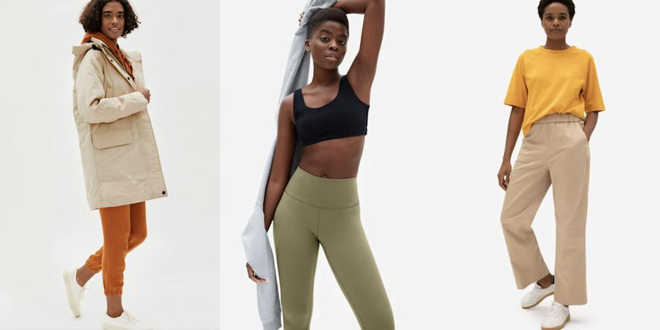 """<p>Everlane officially kicked off its <a href=""""https://go.redirectingat.com?id=74968X1596630&url=https%3A%2F%2Fwww.everlane.com%2Fcollections%2Fwomens-sale&sref=https%3A%2F%2Fwww.seventeen.com%2Ffashion%2Fg35089866%2Feverlane-end-of-year-sale-2020%2F"""" rel=""""nofollow noopener"""" target=""""_blank"""" data-ylk=""""slk:&quot;Goodbye 2020 Event,&quot;"""" class=""""link rapid-noclick-resp"""">""""Goodbye 2020 Event,""""</a> where you can <strong>save up to 60 percent</strong> on the brand's <a href=""""https://go.redirectingat.com?id=74968X1596630&url=https%3A%2F%2Fwww.everlane.com%2Fcollections%2Fwomens-jeans&sref=https%3A%2F%2Fwww.seventeen.com%2Ffashion%2Fg35089866%2Feverlane-end-of-year-sale-2020%2F"""" rel=""""nofollow noopener"""" target=""""_blank"""" data-ylk=""""slk:covetable jeans"""" class=""""link rapid-noclick-resp"""">covetable jeans</a>, <a href=""""https://go.redirectingat.com?id=74968X1596630&url=https%3A%2F%2Fwww.everlane.com%2Fcollections%2Fwomens-sweaters&sref=https%3A%2F%2Fwww.seventeen.com%2Ffashion%2Fg35089866%2Feverlane-end-of-year-sale-2020%2F"""" rel=""""nofollow noopener"""" target=""""_blank"""" data-ylk=""""slk:cashmere sweaters,"""" class=""""link rapid-noclick-resp"""">cashmere sweaters,</a> and more items that deserve your attention. The direct-to-consumer brand is known for a lot of things: its eco-friendly manufacturing process, high-quality materials, timeless silhouette, and transparent prices, to name a few. But its mind-blowing sales? Not so much. Now is a unique opportunity to save big on a variety of this year's top styles. The catch? Items are selling out fast. Find our edit of the best deals worth adding to your cart, below. </p>"""