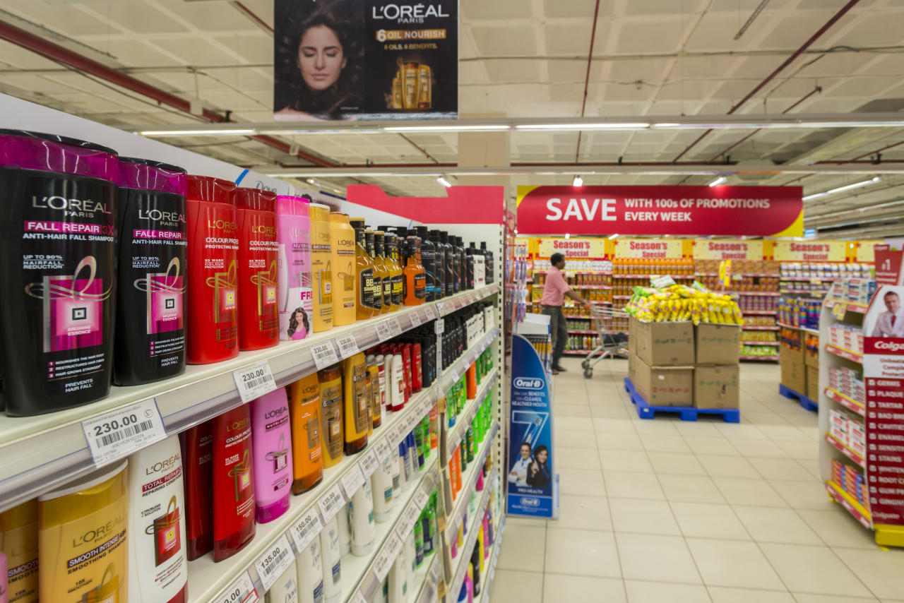 <p>28% to 18%: Shampoos; hair cream, hair dyes (natural, herbal or synthetic) and similar other goods; henna powder or paste, not mixed with any other ingredient. </p>