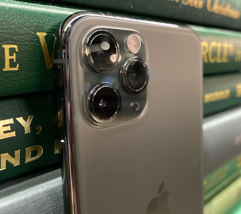 The triple-camera setup on the iPhone Pro. (Image: Dan Howley)