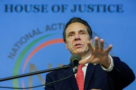 FILE PHOTO: New York Gov. Andrew Cuomo (D-N.Y.), speaks to guests during the National Action Network (NAN) Dr. Martin Luther King, Jr. Day Public Policy Forum in the Harlem borough of New York City, New York, U.S., January 15, 2018. REUTERS/Eduardo Munoz