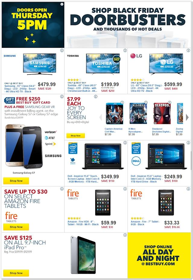 Best Buy Black Friday 2016 Ad Iphone 7 Ps4 Pro Bundle Tvs And Other Huge Deals