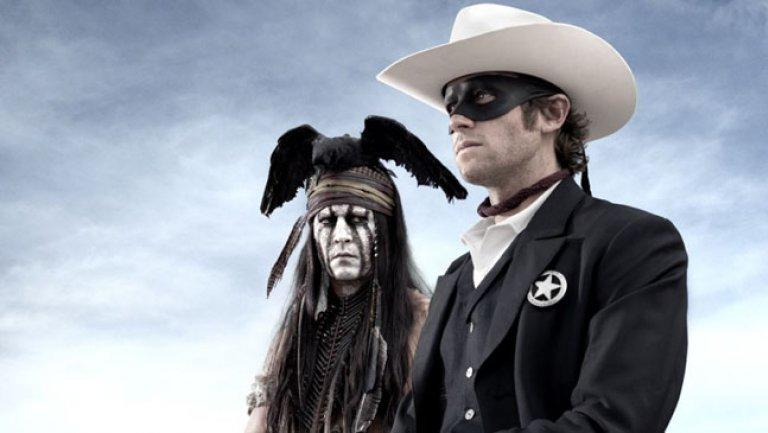 Johnny Depp as Tonto in 'The Lone Ranger' (Credit: Disney)