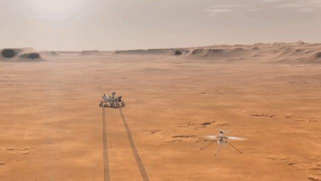 mars helicopter ingenuity flight nasa gif