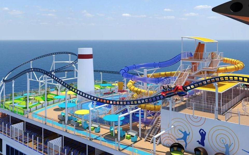 The very first rollercoaster at sea