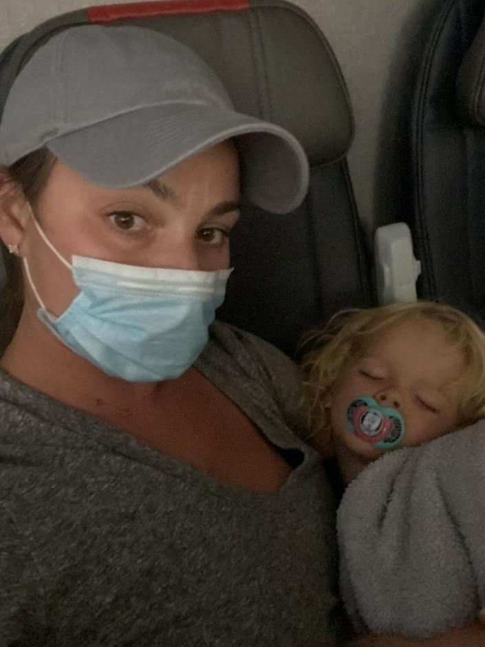Jodi Degyansky and her son were escorted off of a Southwest Airlines flight at RSW because the 2-year-old was not wearing his mask in order to eat some snacks, she said.