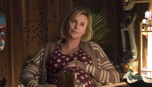 """<p>In what is being called screenwriter Diablo Cody's best work since her Oscar-winning breakout, <em>Juno</em>, Charlize Theron plays a depressed middle-class mother who reluctantly agrees to let her wealthy brother (Mark Duplass) staff her with a night nurse (Mackenzie Davis) to ease the burden of an unplanned third child's arrival. Moms everywhere identify.   <a href=""""https://www.go90.com/videos/72i02EABQ4e"""" rel=""""nofollow noopener"""" target=""""_blank"""" data-ylk=""""slk:Watch trailer"""" class=""""link rapid-noclick-resp"""">Watch trailer</a> (Focus) </p>"""