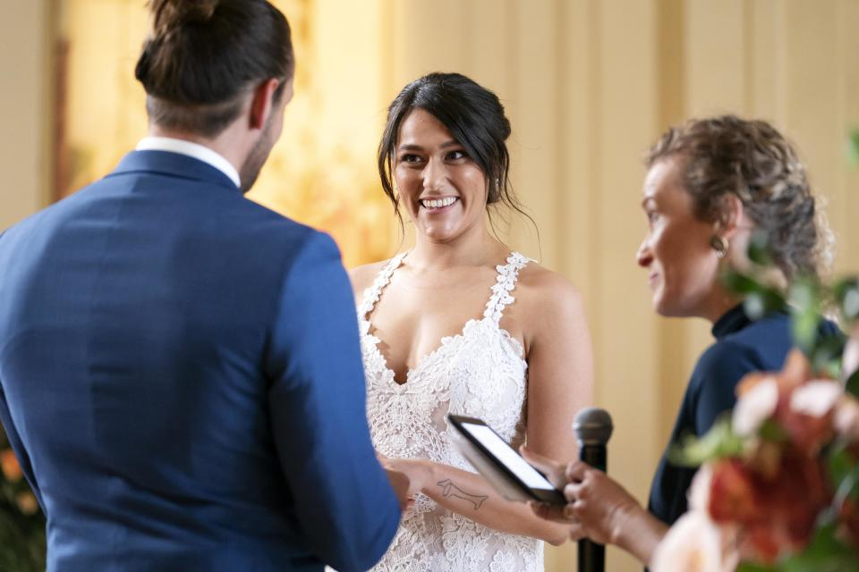 Married At First Sight's Connie on her wedding day