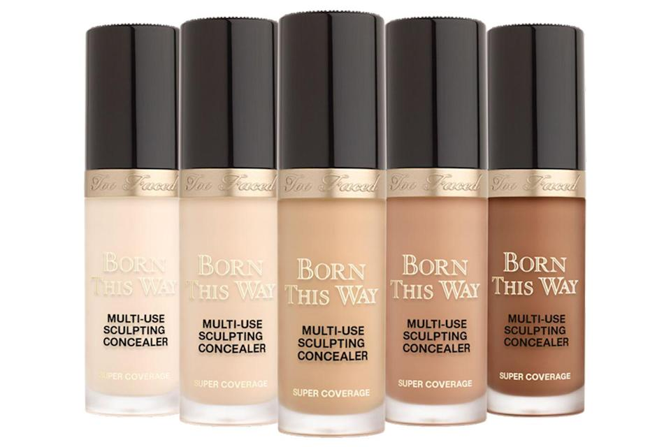 """<p>If you want a concealer that gives and gives, this is it. The Born This Way Super Coverage formula can be built up to cover everything and anything, the large wand deposits plenty of product in one swipe, leaving skin with a perfected finish. </p><p><a href=""""https://www.cultbeauty.co.uk/too-faced-born-this-way-super-coverage-multi-use-sculpting-concealer.html"""" rel=""""nofollow noopener"""" target=""""_blank"""" data-ylk=""""slk:buy now"""" class=""""link rapid-noclick-resp"""">buy now</a><br></p>"""