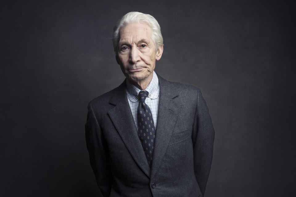 FILE - Charlie Watts of the Rolling Stones poses for a portrait on Nov. 14, 2016, in New York. Watts' publicist, Bernard Doherty, said Watts passed away peacefully in a London hospital surrounded by his family on Tuesday, Aug. 24, 2021. He was 80. (Photo by Victoria Will/Invision/AP, File)