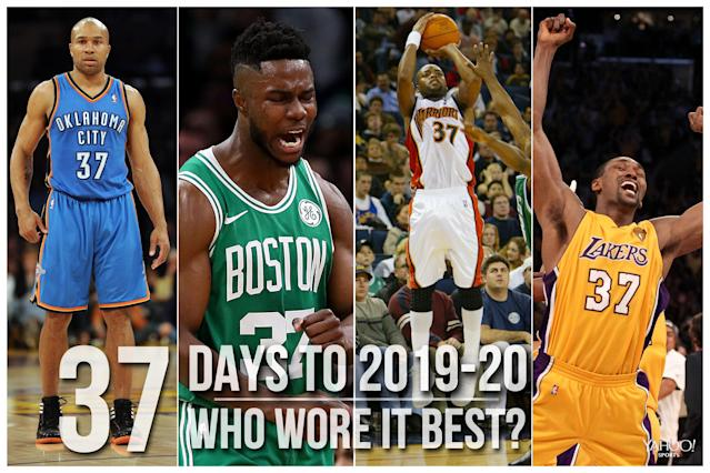 Which NBA player wore No. 37 best?