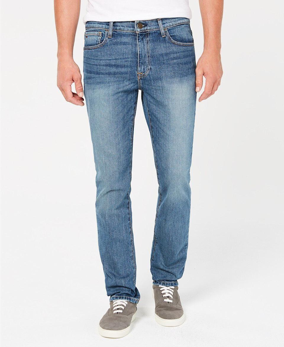 """These jeans, which come in five different washes, feature some fading and a straight fit.<strong><a href=""""https://fave.co/2R7xgps"""" target=""""_blank"""" rel=""""noopener noreferrer"""">Find this pair at Macy's</a></strong>."""