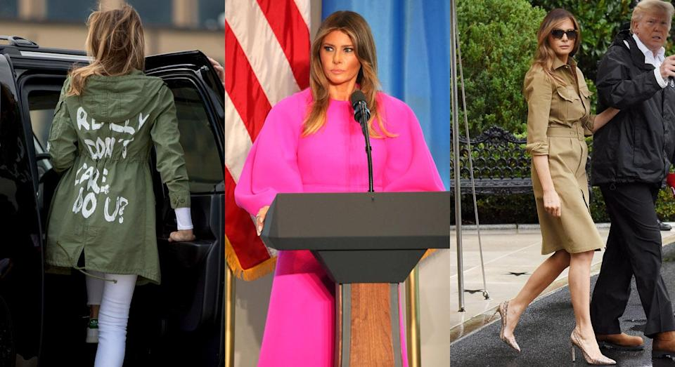 Melania Trump has made some fashion faux-pas in her time, but who is responsible? [Photos: Getty/Rex/Getty]