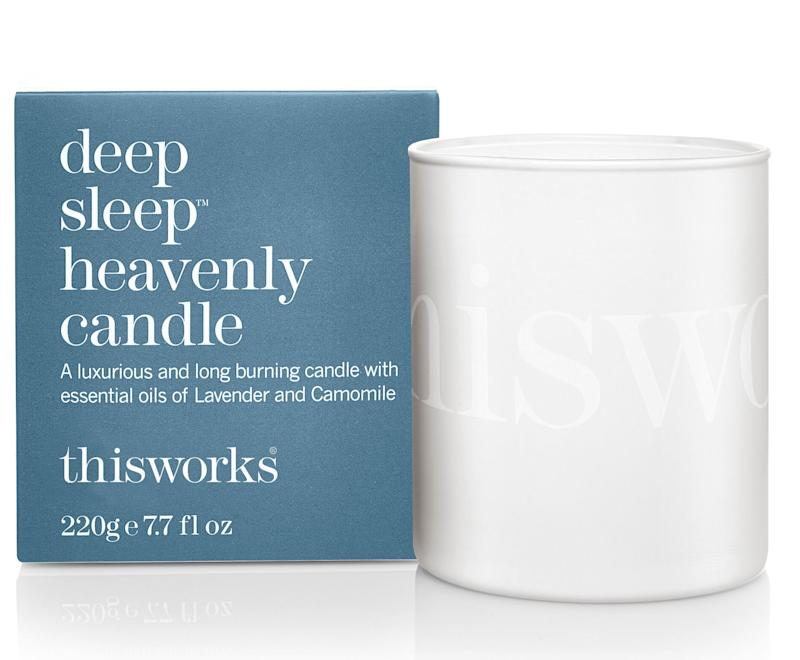 """<a href=""""https://fave.co/2Rk0PG4"""">Deep Sleep Heavenly Candle, Marks &amp; Spencer,</a> &pound;26 (Photo: Huffington Post UK )"""