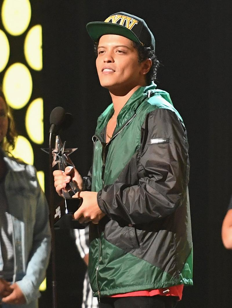 Bruno Mars Was Caught Nodding Off During The Bet Awards On Sunday Night,  And True To Form, The Internet Has Made The Moment A Meme