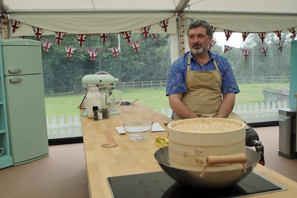 Marc filled his steamed buns with Indian-inspired dhal for 'The Great British Bake Off's Japanese Week. (Channel 4)