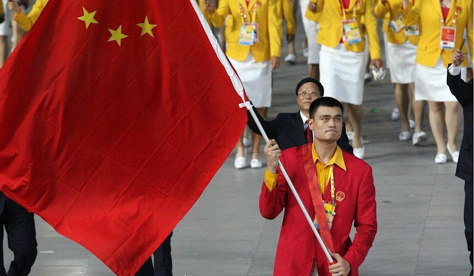 NBA star Yao Ming carried the flag at the 2004 and 2008 Olympics. Photo: Getty Images