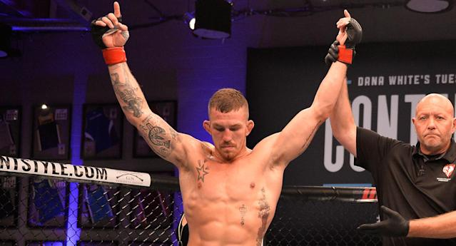 "Austin Vanderford signed with Bellator after not being signed by the UFC despite a victory in ""Dana White's Tuesday Night Contender Series"" last summer. (DWTNCS LLC)"