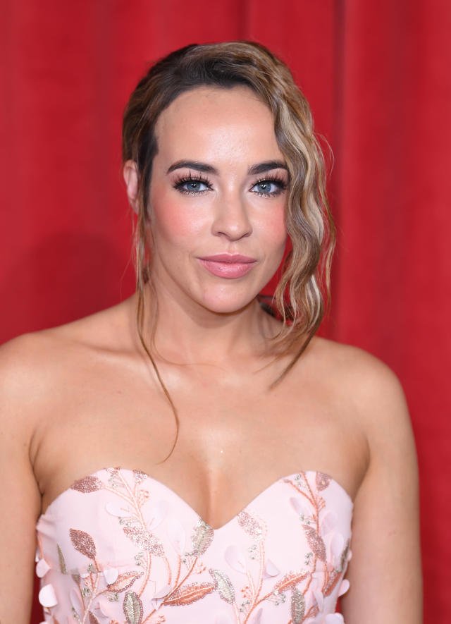 MANCHESTER, ENGLAND - JUNE 01: Stephanie Davis attends the British Soap Awards at The Lowry Theatre on June 01, 2019 in Manchester, England. (Photo by Karwai Tang/WireImage)