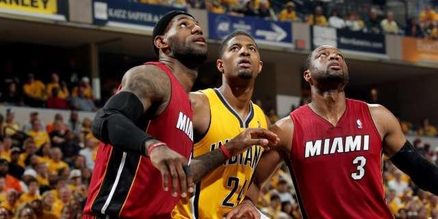 Indiana plays its best game in weeks, as the Pacers down the Heat in Game 1