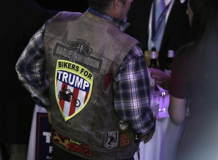 <p>Supporters arrive at Republican presidential candidate Donald Trump's election night rally, Tuesday, Nov. 8, 2016, in New York. (Photo: Julie Jacobson/AP) </p>
