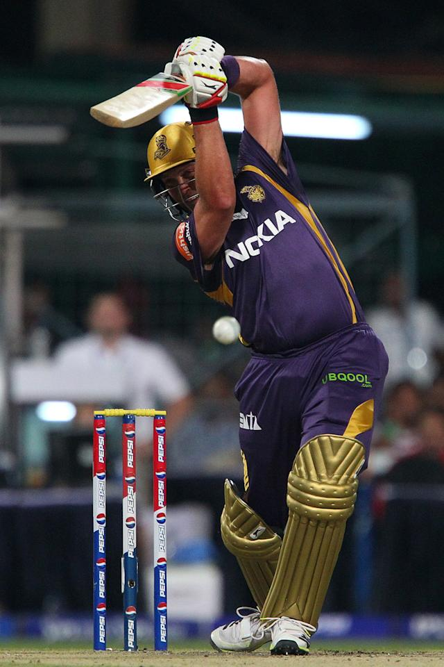 Jacques Kallis during match 33 of the Pepsi Indian Premier League between The Kolkata Knight Riders and the Mumbai Indians held at the Eden Gardens Stadium in Kolkata on the 24th April 2013. (BCCI)