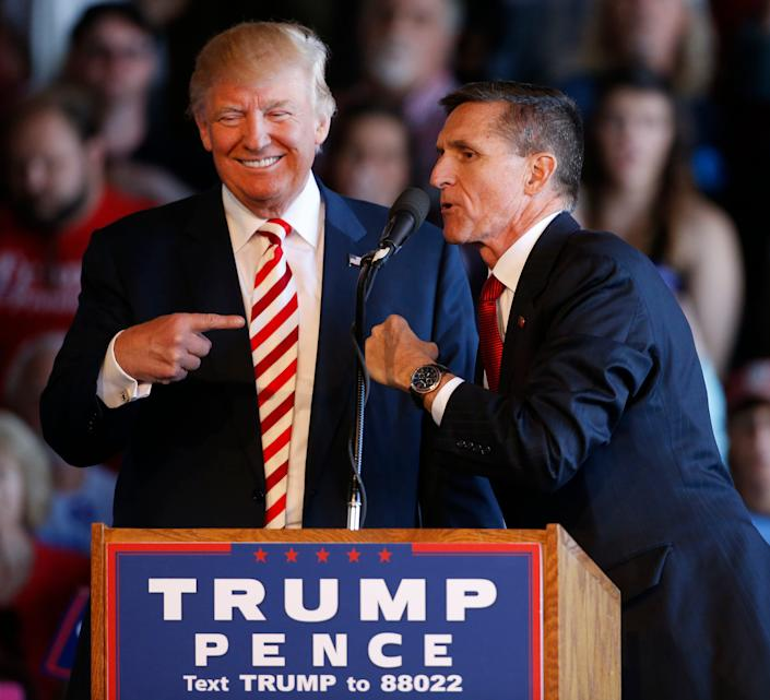 President Donald Trump's national security adviser, Michael Flynn, was convicted of lying to the FBI.