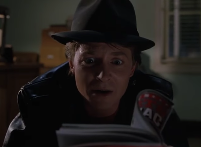 Michael J Fox in the censored scene from Back to the Future II: Universal Pictures/screengrab/YouTube