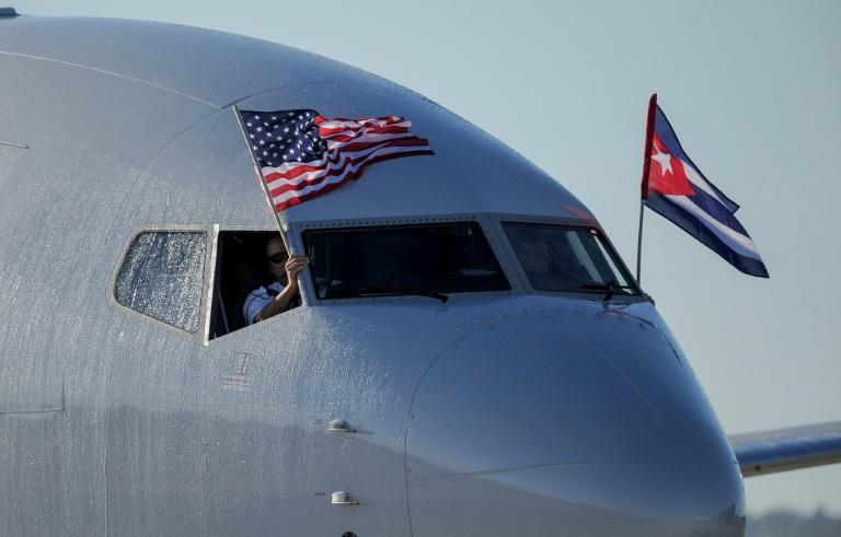 An American Airlines plane became the first Miami-Havana commercial flight in 50 years in November 2016, but the US is now curtailing the number of flights allowed to go to Cuba