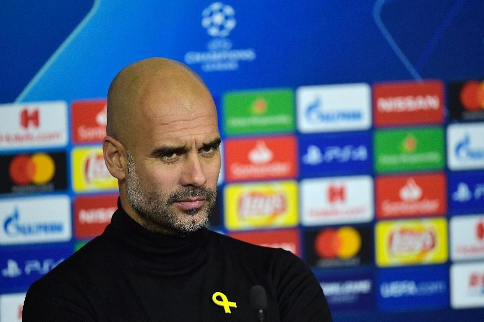 Manchester City manager Pep Guardiola has questioned his side's tag as Champions League favourites (AFP Photo/ROMAIN LAFABREGUE)