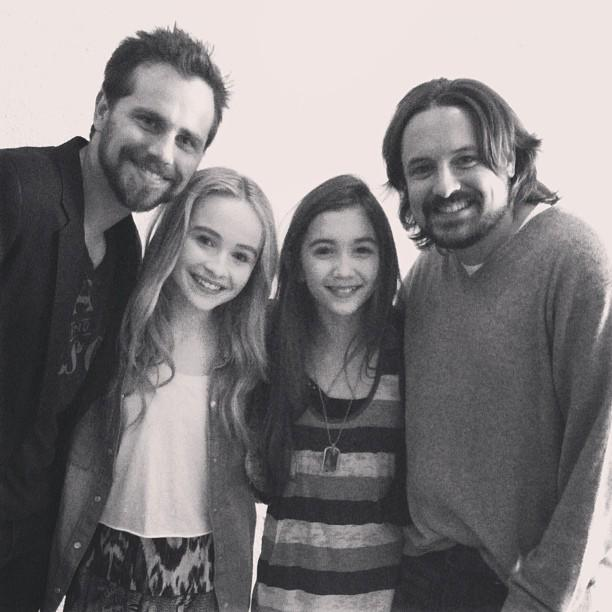 """Rowan Blanchard -- the girl in """"Girl Meets World"""" -- <a href=""""http://instagram.com/p/XGcWfsJdcE%20"""">Instragrammed this pic</a> of herself with """"<a href=""""http://tv.yahoo.com/shows/boy-meets-world/"""">Boy Meets World</a>"""" original cast members Rider Strong (Shawn Hunter) and Will Friedle (Eric Matthews). Also in the pic is Sabrina Carpenter, who will play Maya Fox -- best friend to Riley Matthews (Blanchard).<br /><br />Strong and Friedle are all grown up, all smiles, and bearded! Unfortunately, <a href=""""http://insidetv.ew.com/2012/11/29/boy-meets-world-rider-strong/"""">Strong has said</a> that he won't be a part of """"Girl Meets World."""" Strong, 33, graduated magna cum laude from Columbia University and is now more focused on screenwriting, directing, and producing. He and his brother, Shiloh, wrote and directed a short film, """"Irish Twins,"""" which took home two awards at the Woods Hole Film Festival.<br /><br />Friedle, 36, has not yet denied or confirmed whether he'll be in the sequel. But he's been busy doing voice-over work for cartoons, such as """"Kim Possible,"""" """"The Secret Saturdays,"""" """"Batman: The Brave and the Bold,"""" and """"ThunderCats.""""<br /><br />The two took the time to show up on the """"GMW"""" set, so we can only hope that they'll stick around to reprise their original roles!"""