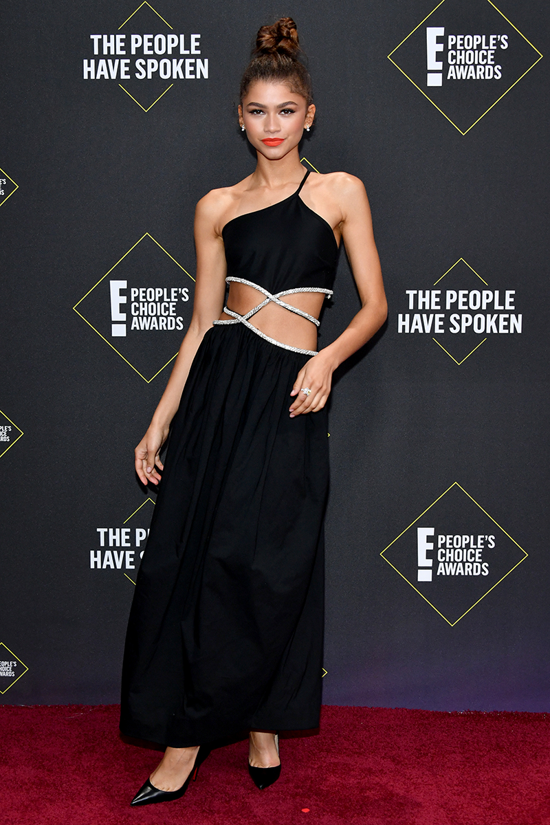 """<p>Can we take a second to talk about how incredible Zendaya's <a href=""""https://www.cosmopolitan.com/uk/fashion/celebrity/g29753404/peoples-choice-awards-2019-red-carpet/"""" rel=""""nofollow noopener"""" target=""""_blank"""" data-ylk=""""slk:2019 People's Choice Awards"""" class=""""link rapid-noclick-resp"""">2019 People's Choice Awards</a> dress is? Designed by Christopher Esber, the embellished cut-out panels are simply TDF. </p>"""