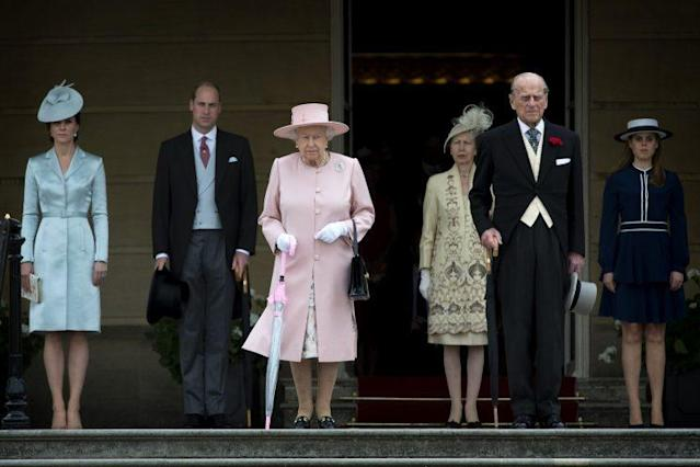 The royal family at the Queen's garden party. (Photo: PA)