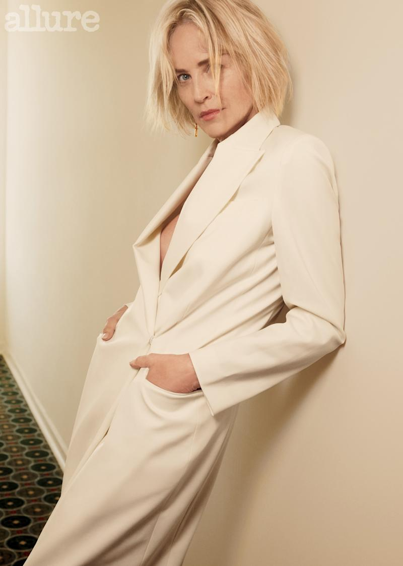Sharon Stone stars in the new issue of Allure. (Photo: Emma Summerton for Allure)