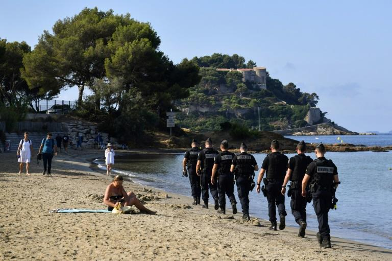 Some 10,000 members of the French security forces have been deployed across the glamorous resort of Biarritz (AFP Photo/GERARD JULIEN)