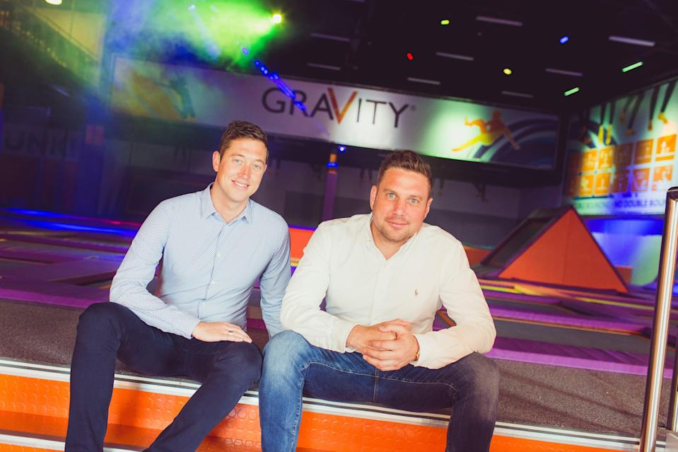 Harvey Jenkinson and Michael Harrison at a Gravity site (Gravity)