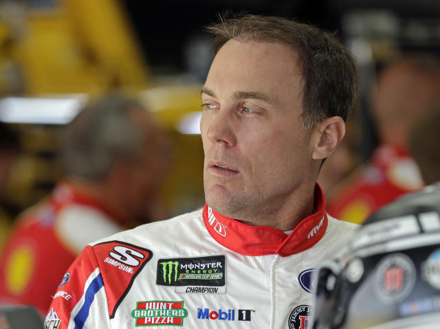 "<a class=""link rapid-noclick-resp"" href=""/nascar/sprint/drivers/205/"" data-ylk=""slk:Kevin Harvick"">Kevin Harvick</a> has won five of the first 16 races of 2018. (AP Photo/Chuck Burton)"
