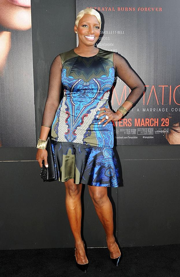 "Nene Leakes attends the ""Tyler Perry's Temptation: Confessions Of A Marriage Counselor"" Atlanta Screening at AMC Parkway Pointe on March 16, 2013 in Atlanta, Georgia."