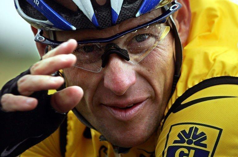 Armstrong during the fifth stage of the Tour de France on July 8, 2004